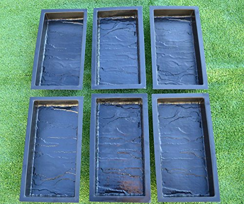 Betonex Sold Set 6 Piece Design Concrete MOLDS for Paving Brick Slab Patio Garden Path Mould#S23