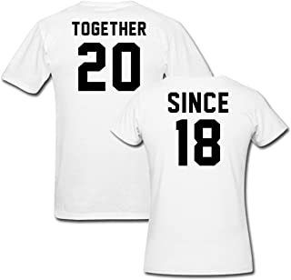 Together Since 2018 t Shirt Couple Matching Set His & Her Custom t Shirts