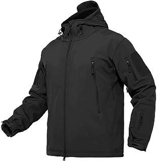 BIYLACLESEN Men's Jackets Outdoor Windproof Softshell Hooded Tactical Jacket