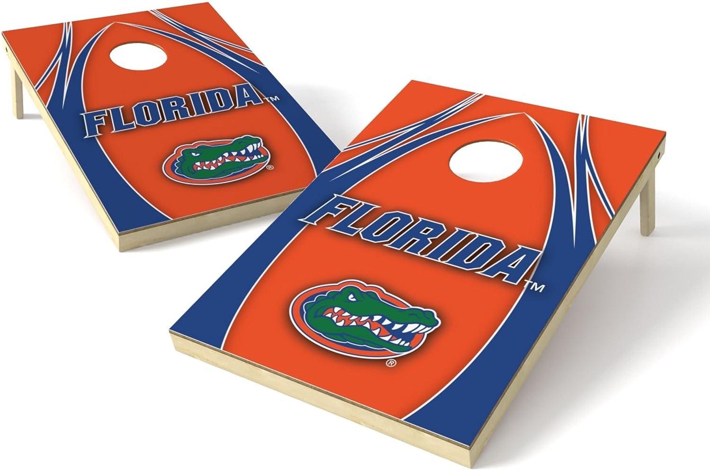 Wild Sports NCAA Florida Gators 2 x 3 Platinum College V Logo Wood Tailgate Toss, 24  x 36 , Multi