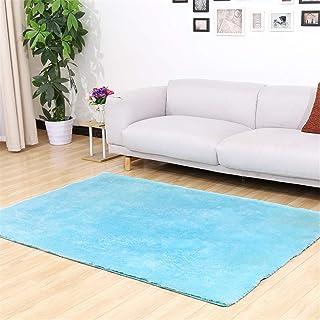 ラグ3 ラグ 円形 かわいいカーペット用滑り止め 50X160cm シルク厚いバスルームマットリビングルームのコーヒーテーブル吸収性カーペット寝室ベッドサイドベイウィンドウマットポリエステル居間スカイブルー