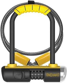 Onguard Bulldog Mini Combo Lock w/ 4' X10mm Cable - yellow, one size