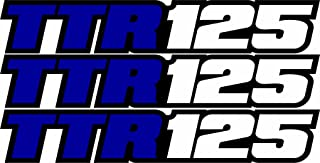 Yamaha Ttr125 Swingarm Airbox Decals Sticker TTR 125 Dirtbike Racing Mx Graphics Atv
