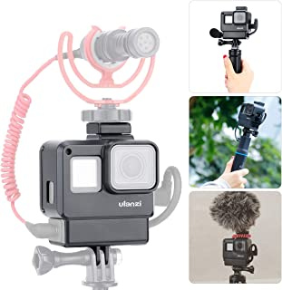 ULANZI V2 Multifunctional Vlogging Case w Cold Shoe Mount for Microphone LED Video Light,Wire Connectable Frame Housing Sh...