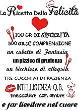 VINFUTUR Italiaanse muurstickers stickers La Ricetta Della Felicità