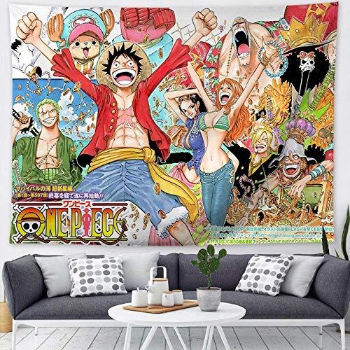 PANDD Dibujos Animados de Anime One Piece Lufei Tapiz Dormitorio decoración de la Bandera Colgante se Puede Personalizar más Terciopelo Colgante de Pared -4_150 * 200_CM