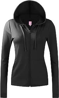 NO Bother Women's Active Lightweight Full-Zip Hooded Jacket (28 Colors, S-3X)