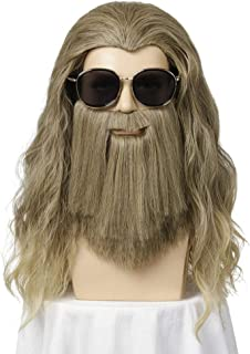 Fat Man Costume Halloween Casual Cosplay Costume Large Set Daily Wig
