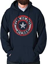 Brisco Brands I Can Do This All Day Comic American Hero Hoodie