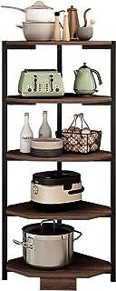 JIAGU Étagère de Rangement pour la Cuisine Porte-étagères de Coin Cuisine à 5 Niveaux, Multicouche Pot Rack Stockage Organ...