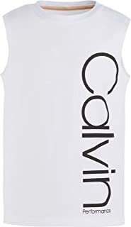 CALVIN KLEIN Big Girls' Performance Logo Tank Top