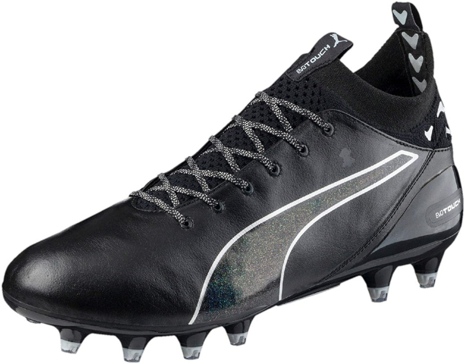 Evotouch Pro FG Football Boots - Black Black Silver