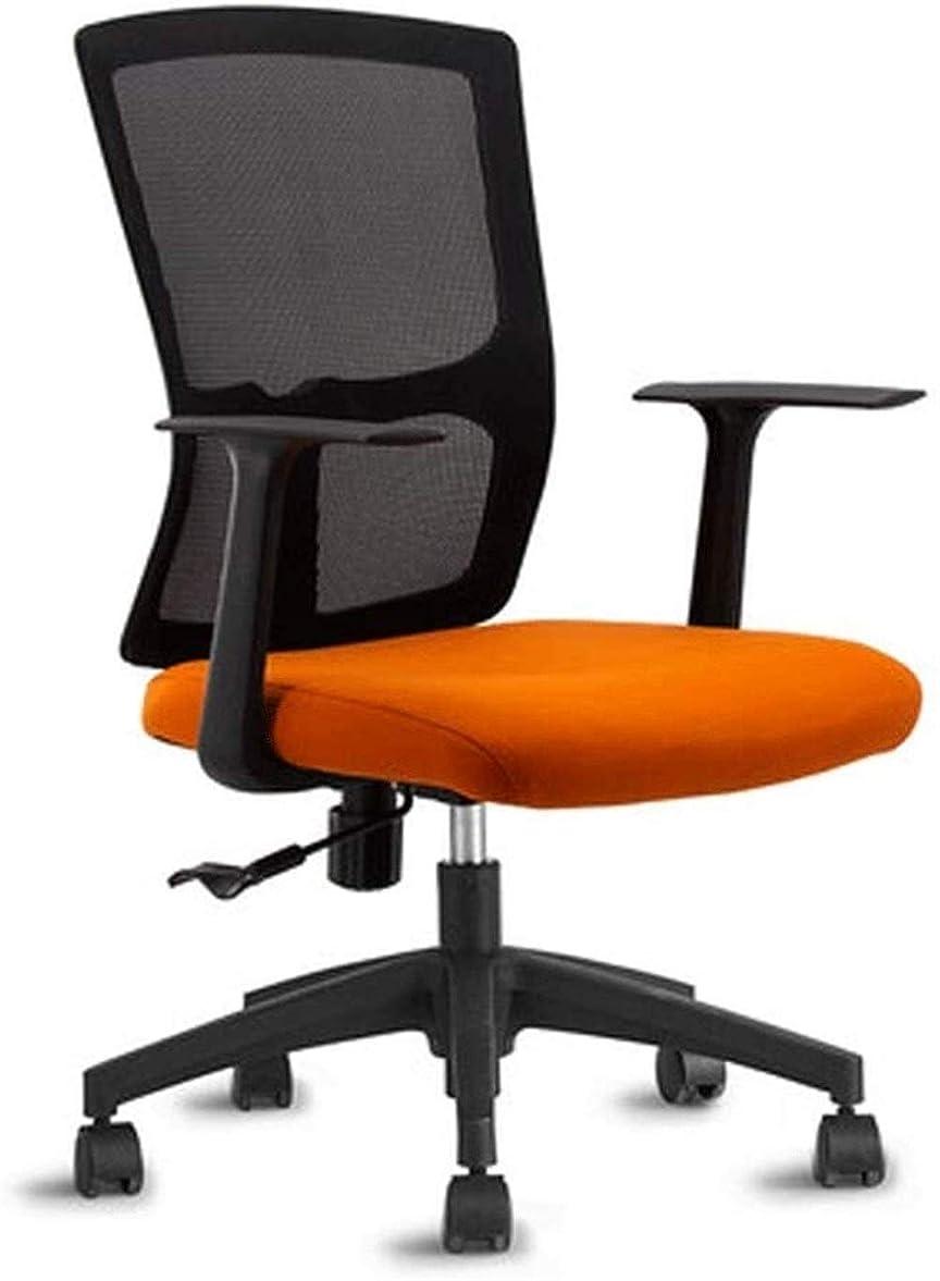 どうしたのウェイド松の木事務椅子 昇降機能付き コンピュータチェア、ホームスイベルチェア、人間工学に基づいて設計快適なデスクチェアライティングチェアゲームチェアリフトオフィスチェア、快適で健康的なウエストサポートチェア (Color : Orange)