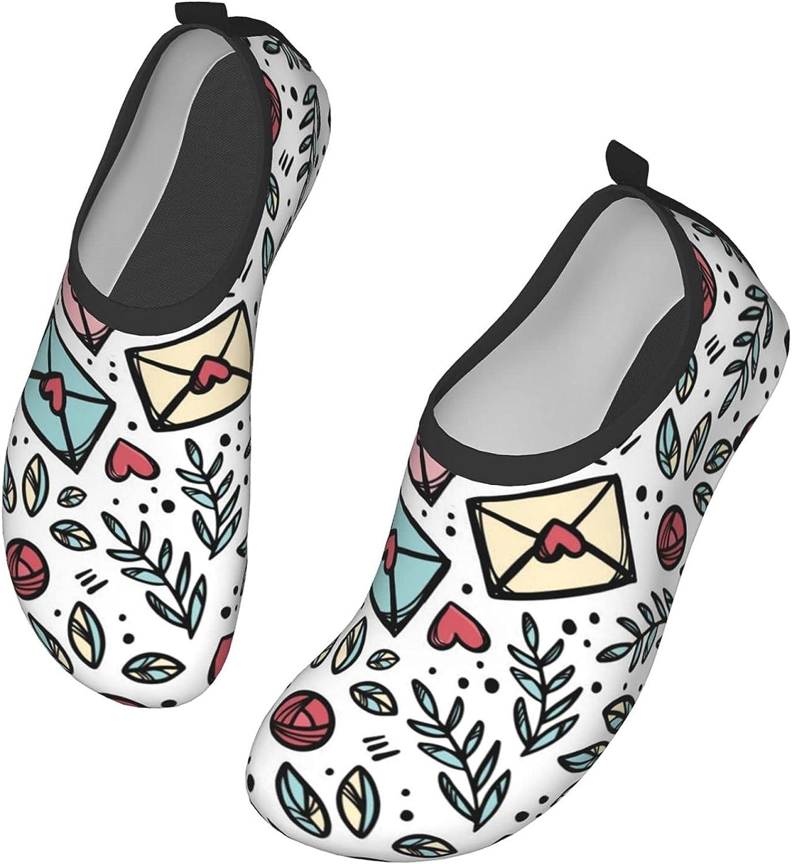 Love Letter Mail Water Sports Shoes Barefoot Quick-Dry Aqua Yoga Socks Slip-on for Men Women