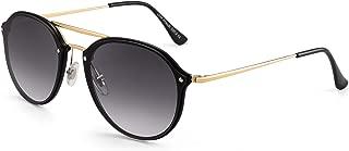 JIM HALO Aviator Sunglasses Designer Round Lens Shades for Men Women
