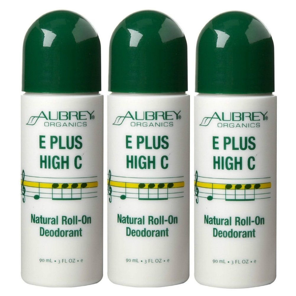 Aubrey Organics E Plus High Max 43% OFF Roll-On Package Ranking TOP16 C 3-Ounce Deodorant