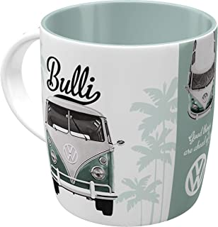 Nostalgic-Art 43033, Volkswagen VW Good Things Are Ahead of You, Tasse Taza, cerámica, carbón, 8.5 x 13 x 9 cm