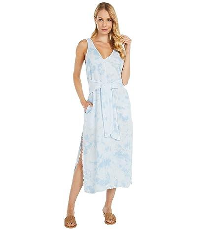 bella dahl Tie Front Midi Dress (Crystal Blue) Women