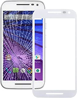 Mobile Phones Communication Accessories Front Screen Outer Glass Lens for Motorola Moto G (3rd gen)(Black) (Color : White)