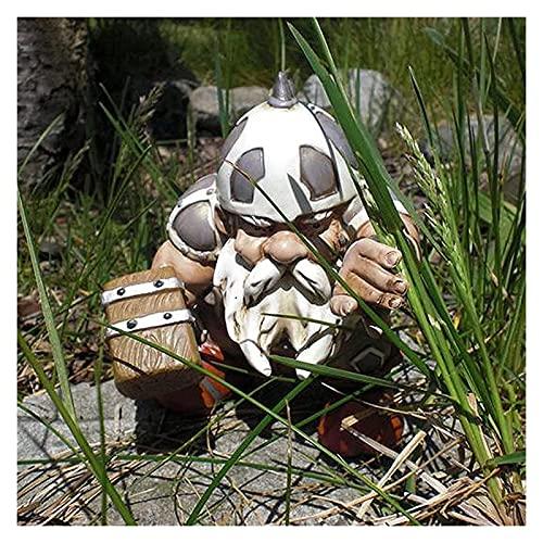 Reversty Viking Victor Nordic Dwarf Dwarf Dwarf Statue, Viking Garden Dwarf Decoración a Todo Color Atoño Dwarf Estatua Decoración del césped (Color : Green)