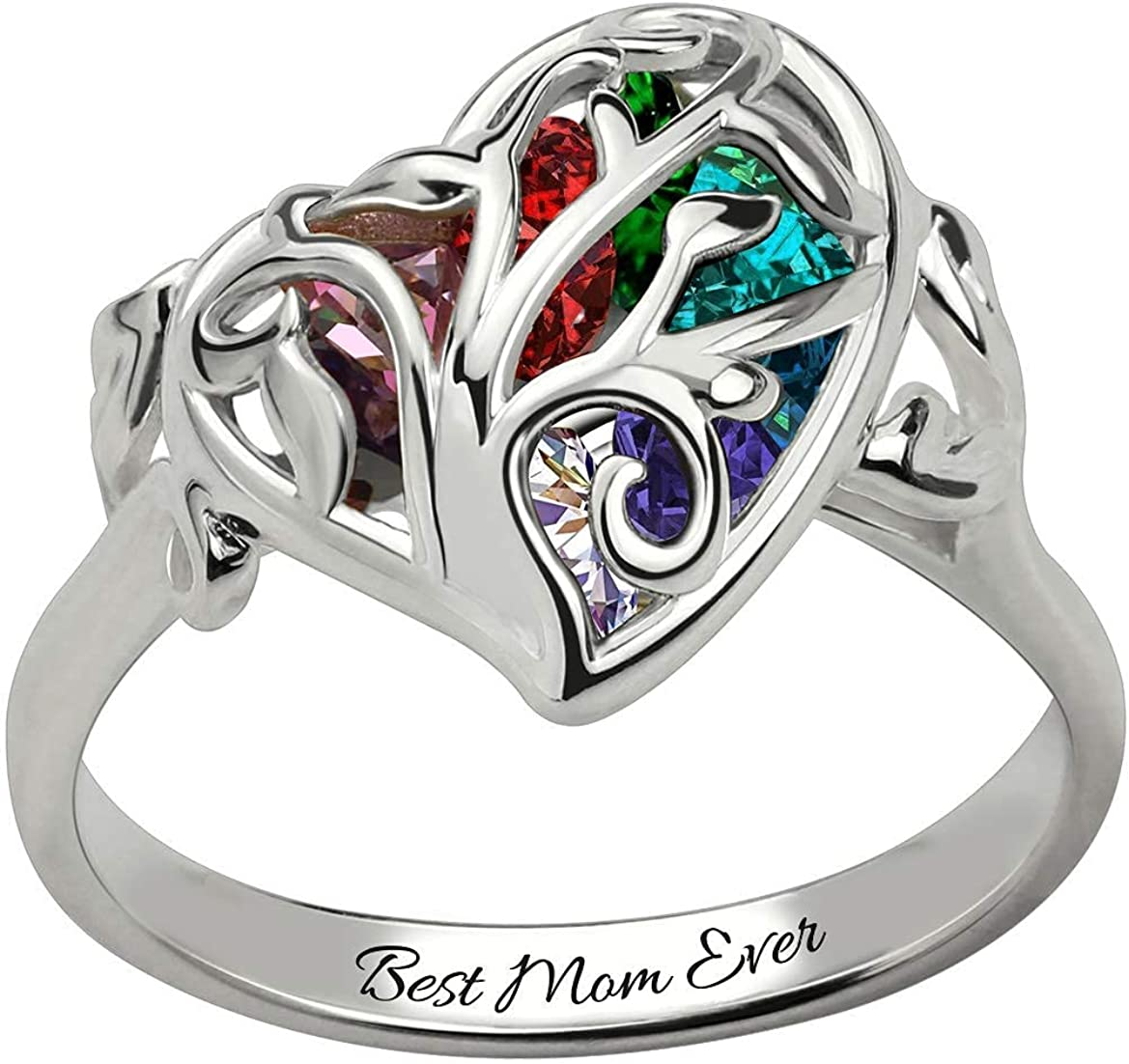 sold out Unikei Personalized Heart-Shaped cage Family with Ring Popular products Tree Hear