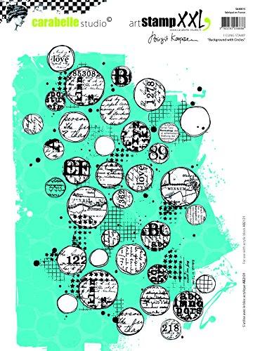 Carabelle Studio Cling Stempel XXL-Background with Circles B. Koopsen, Rubber, White transparent, 19 x 27.5 x 0.5 cm