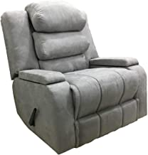 Regal In House Recliner Chair With Storage Container and Moveable Back Cushions - Grey AB07
