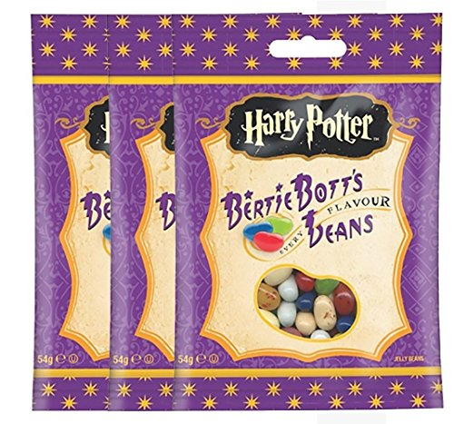 Lot de 3 paquets Jelly Belly Bean Boozled Harry Potter Bertie Bott's 54g (validé UE)