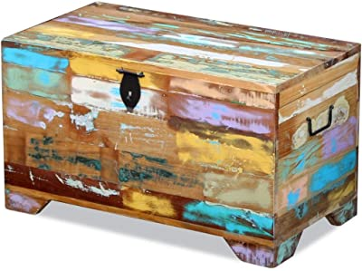 SKB family Storage Chest Solid Reclaimed Wood, Multicolor, Solid Reclaimed Wood