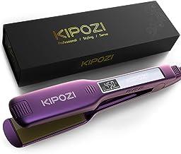 صاف کننده موی حرفه ای KIPOZI ، آهن تخت تیتانیوم 1.75 اینچ برای آهن آهن تخت دو ولتاژ ، آهن تخت پهن برای موهای ضخیم با دمای قابل تنظیم