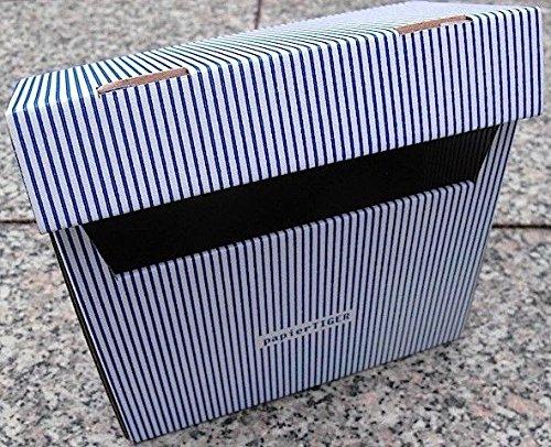 PapierTiger Karteikasten Streifen Kartonage, Auswahl:A6 blau
