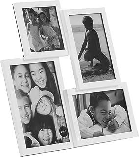Balvi Marco Isernia Color Blanco Capacidad: 4 Fotos Marco de Fotos para sobremesa Plástico 30x30 cm