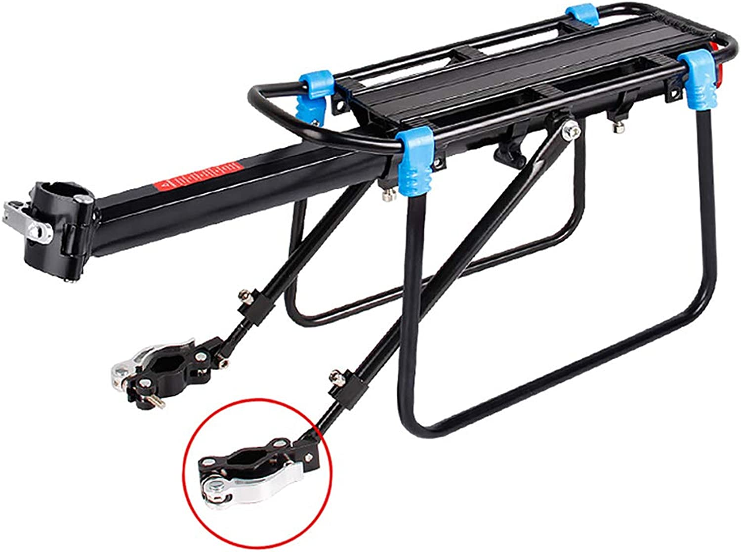 Mountain Bike Rear Frame  LoadBearing 100kg Quick Release Bicycle Rear Shelf can Carry Cargo Convenient Dualuse