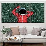 YANGMENGDAN Druck auf Leinwand 3 Stück Malerei Astronaut