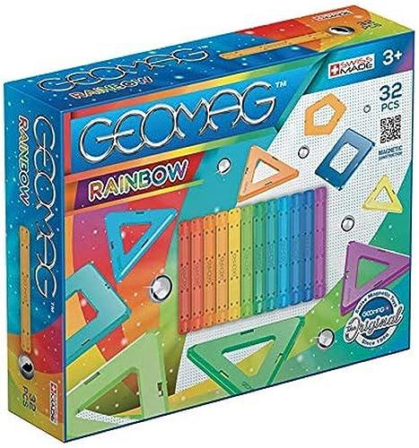 Geomag - Classic 370 Rainbow, Constructions Magnétiques et Jeux Educatifs, 32 Pièces