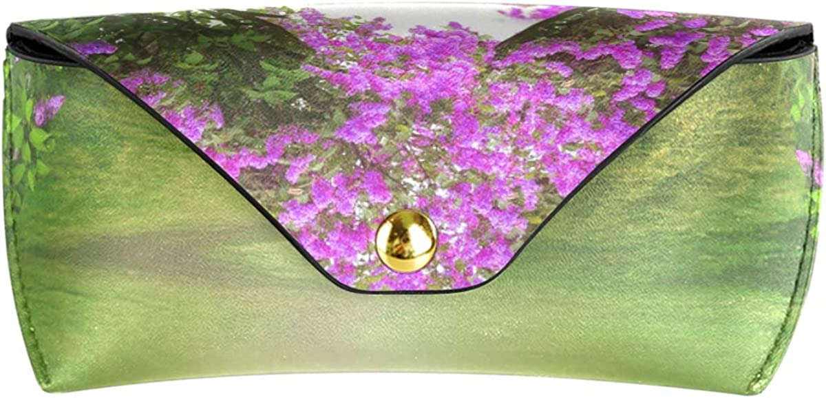 Fantasy Flower Gate gift Multiuse Portable Sunglasses Case Eyeglasses Pouch Goggles Bag PU Leather