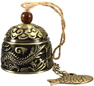 HiMo Vintage Dragon Fengshui Bell Toy Good Luck Bless for Home Garden Hanging Windchime..