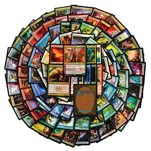 Cosmic Games 100 Magic The Gathering Foil Collection Gift Set | 100 Assorted MTG Foil Cards | Includes Huge Variety from Several Expansions | Great Mix of Colors, Spells & Creatures | All Foil Cards