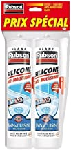 Rubson Pure Silicone Bath & Kitchen Sealant Anti-Mould White Sanitary Sealant with Silicone Base, Waterproof Sealant Reinforced in Antifungal, Pack of 2, 280 ml