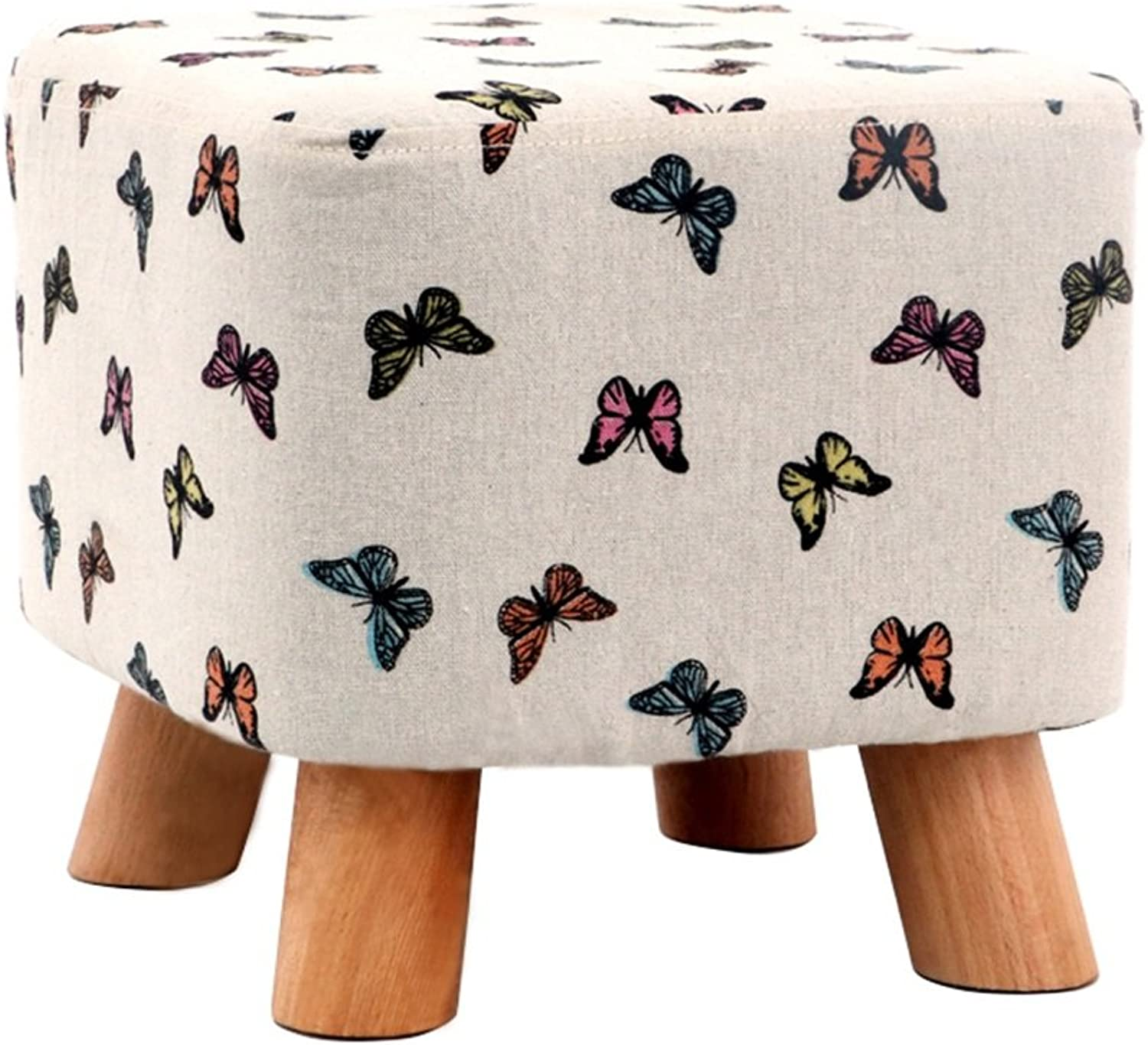 Fabric Sofa Stool Four-Stool Stool Bed Stool Multifunctional Footstool Solid Wood Home Stool Fashion Square Stool shoes Bench Creative shoes Bench Bench  28  28  26cm