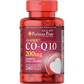 CoQ10 200mg, Supports Heart Health,240 Rapid Release Softgels by Puritan's Pride