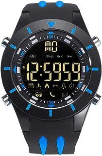 Men's Sports Analog Quartz Watch,Dual Display Waterproof Digital Watches with LED Backlight- dark blue