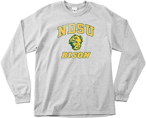 NCAA North Dakota State Bison 100-Percent Pre-Shrunk Vintage Mascot Long Sleeve Tee