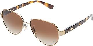 HC7111 57 mm Aviator Metal Sunglasses
