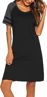 Sleepwear Women's Nightgown Sleep Shirt Printed Short Sleeve Sleep Tee Casual Nightshirt