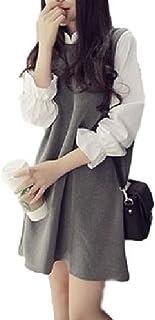 [ニブンノイチスタイル] 1/2style オシャレ キレイメ 袖あり カジュアル ドレス ワンピース レディース