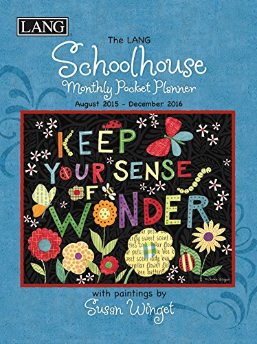 Lang Schoolhouse 2016 Monthly Pocket Planner by Susan Winget, January 2016 to January 2017, 4.25 x 6.5 Inches (1003164)