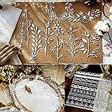 Scrapbooking Papier, hohle Spitze Papier Hand Kontenkalender DIY Dekorative Material Basis Papier, Spitze Blumen Schmetterlinge(Kein Aufkleber, keine Klebrigkeit)