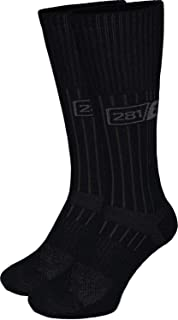 281Z Military Boot Socks - Tactical Trekking Hiking - Outdoor Athletic Sport (Black)