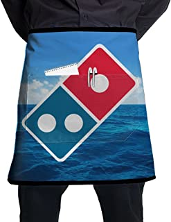 Bralla Dominoâ€s Pizza Logo Half Body Waist Apron With Pocket For Bartenders, Cooking
